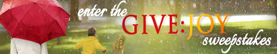 Give Joy Sweepstakes Banner